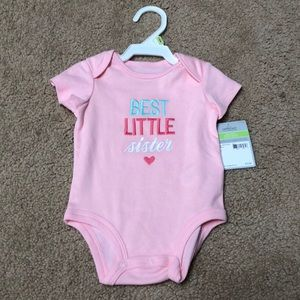 "New with Tags 3 month ""Best Little Sister"" Onesie"